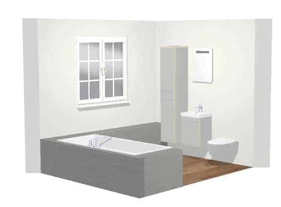 petite salle de bain outil de conception 3D