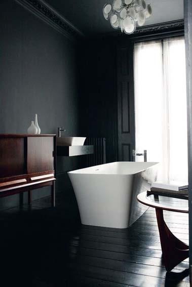 salle de bain noire design