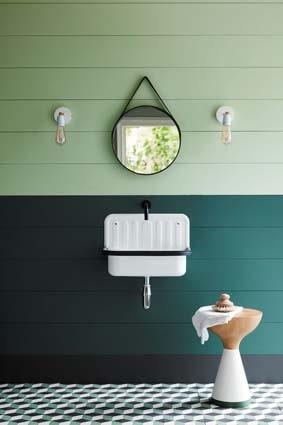 salle de bain peinture tendance verte