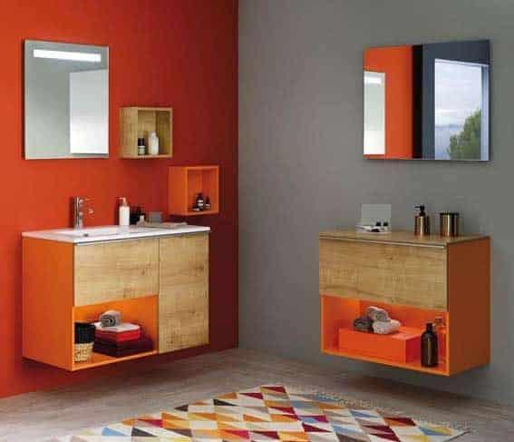 rénover sa salle de bain peinture flashy