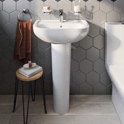lavabo colonne en céramique