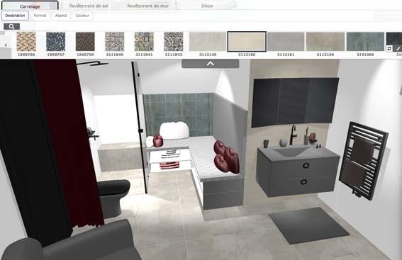 outil gratuit conception 3D salle de bain