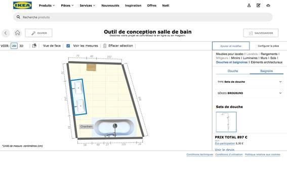 salle de bain 3D outil IKEA