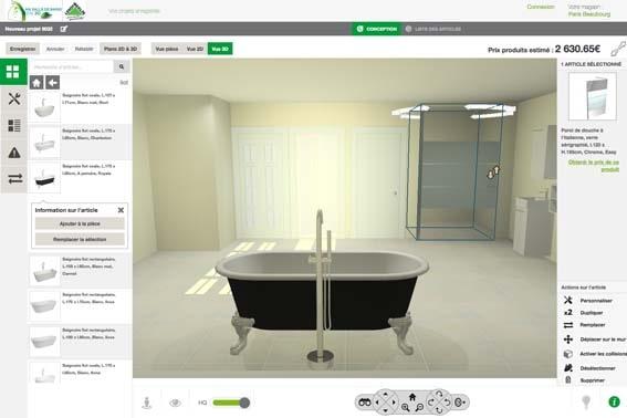 salle de bain 3D Leroy Merlin