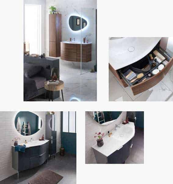 salle de bain Lapeyre collection irrésistible design bois