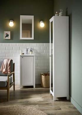 salle de bain Lapeyre esprit classique bois blanc