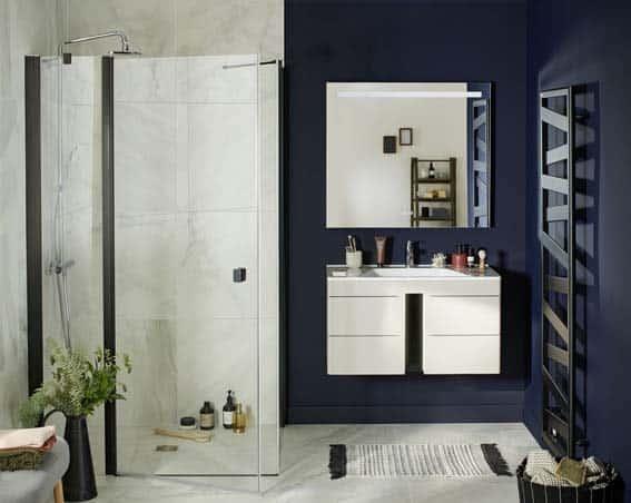 salle de bain Lapeyre meuble sous-vasque avec LED