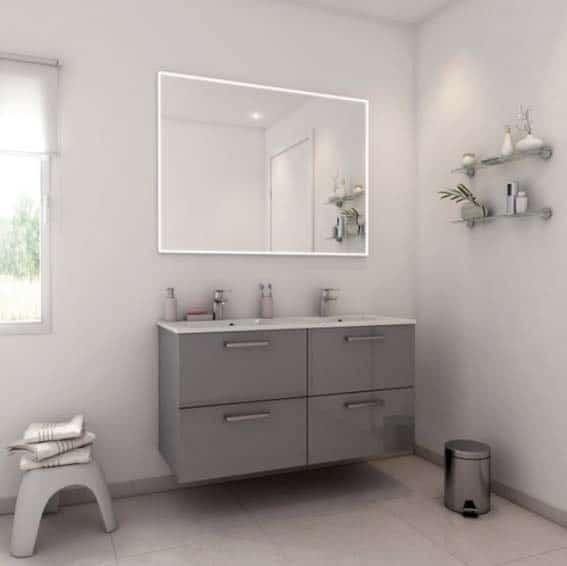 salle de bain Conforama meuble prêt à emporter monté d'usine gamme NEO