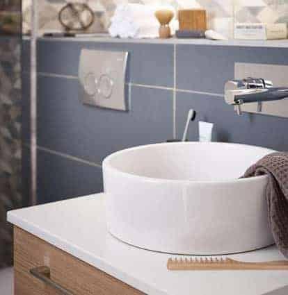 salle de bain Conforama vasque à poser céramique blanche