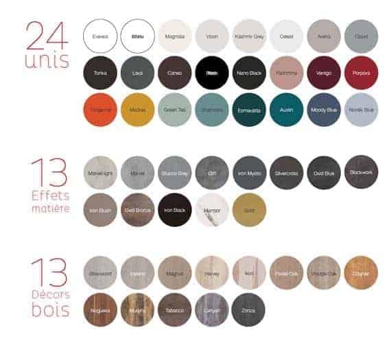 choix coloris