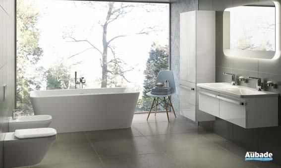 salle de bain chez Aubade zen couleurs naturelles