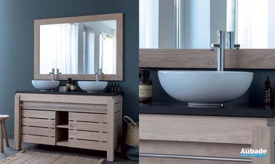 prix salle de bain chez Aubade bois naturel
