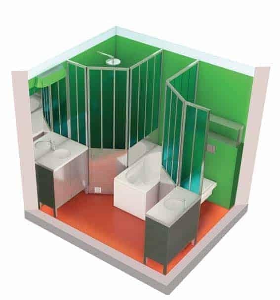 salle de bain clé en main par designer Matali Crasset