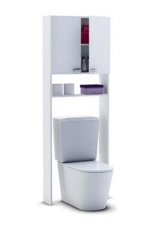 salle de bain conforama meuble haut de WC Coralie II