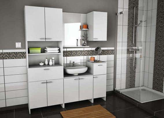 salle de bain conforama  meuble haut Coralie II