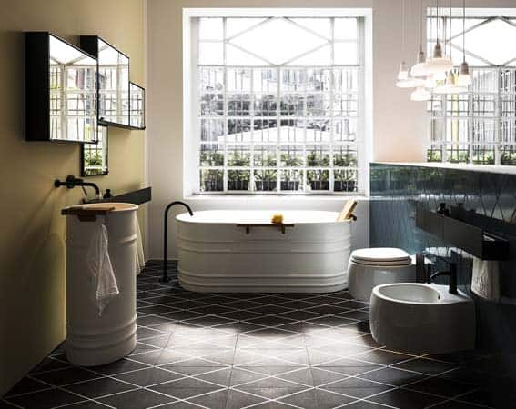 salle de bain de luxe style industriel Agape