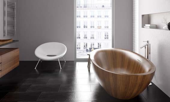 salle de bain de luxe en bois Alegna