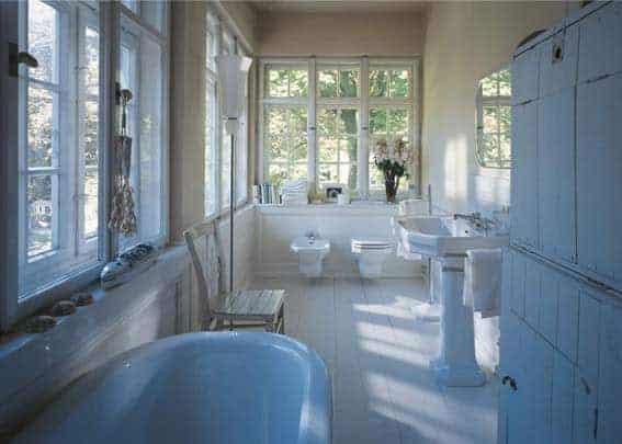 salle de bain de luxe vintage retro chic