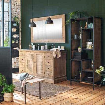 meuble bois massif salle de bain