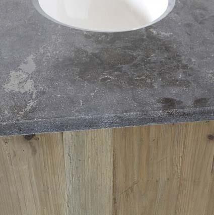 salle de bain bois et pierre