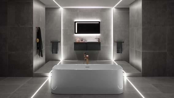 salle de bain grise design