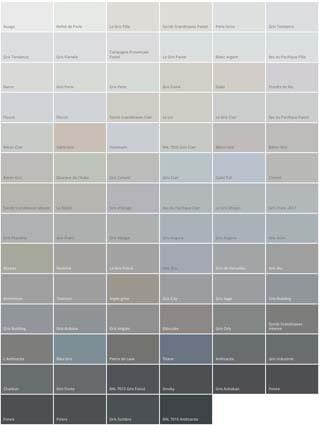 gamme de gris Dulux