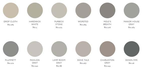gamme de couleurs gris foncés Farrow & Ball