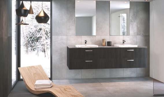 salle de bain grise zen