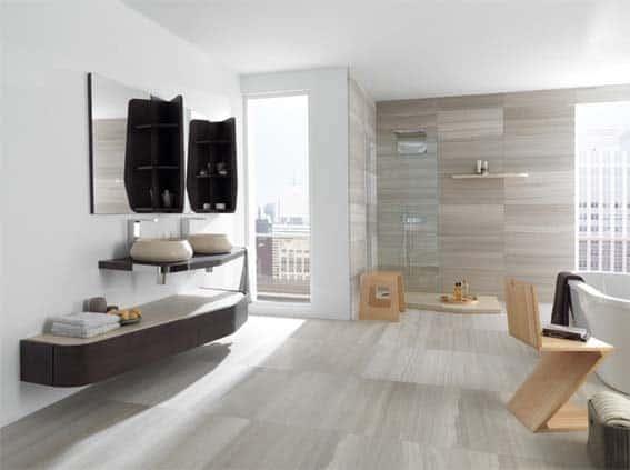 salle de bain moderne géométrique