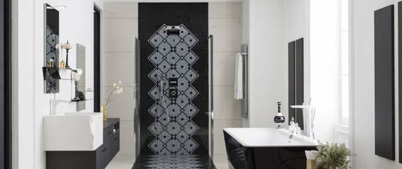 salle de bain noir et blanc Perene