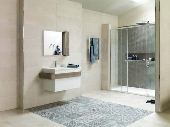 salle de bain Porcelanosa style marocain ethnique