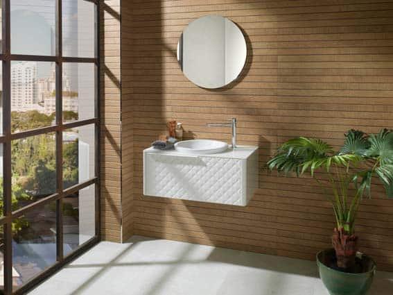 salle de bain Porcelanosa style minimaliste