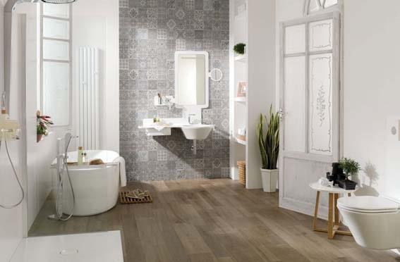 salle de bain Porcelanosa style scandinave