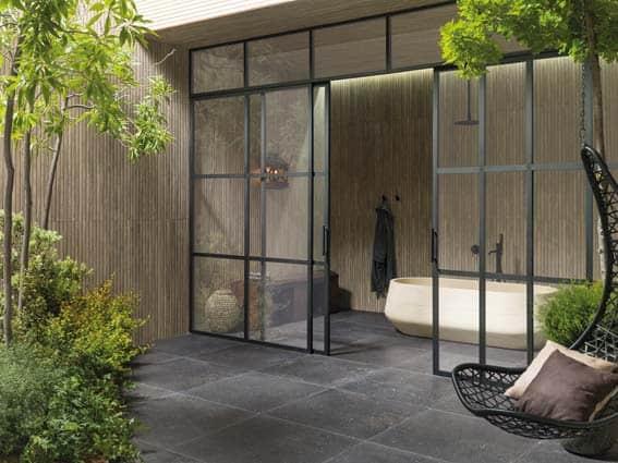 salle de bain Porcelanosa style zen japonais