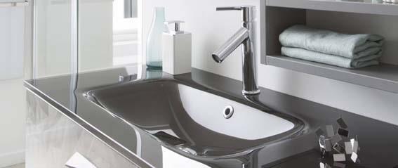 salle de bain blanche et grise vasque