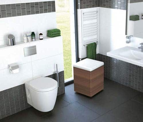 petite salle de bain wc suspendus